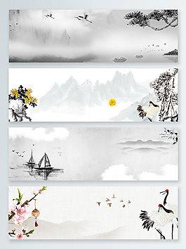 船白露傳統節氣banner背景