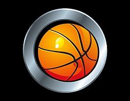 矢量手繪簡約籃球裝飾
