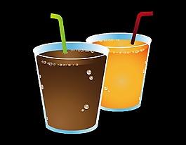 卡通果汁飲料元素