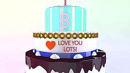 婚禮蛋糕和生日蛋糕的三維展示動畫AE模板