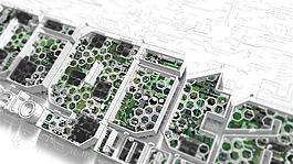芯片電路板構建的3D數字標志演繹AE模板