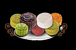 中秋节月饼设计素材png