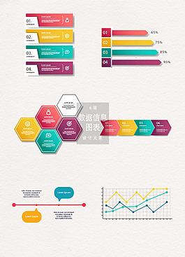 時尚數據信息圖表設計元素