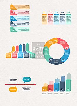 多彩數據信息圖表設計元素