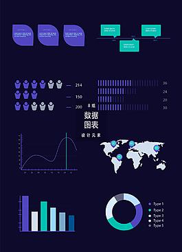 科技感數據信息圖表設計元素