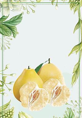 創意綠色有機水果背景