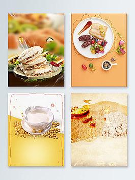 黃色美食早餐餐飲廣告背景圖