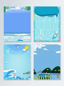 夏末清涼水上樂園廣告背景