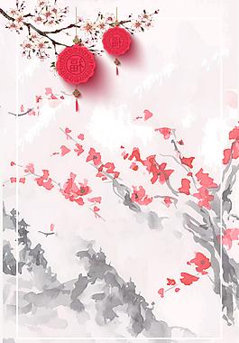 唯美浪漫櫻花節旅游背景