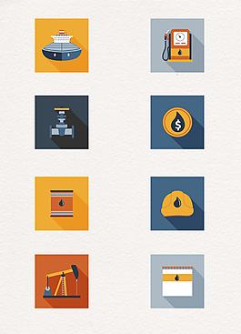方形卡通石油能源工業圖標設計