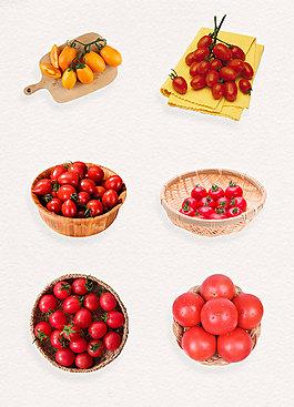 容器中的圣女果png蔬果素材