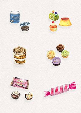 饼干糖果手绘零食设计