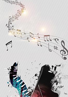 音乐梦想钢琴培训背景