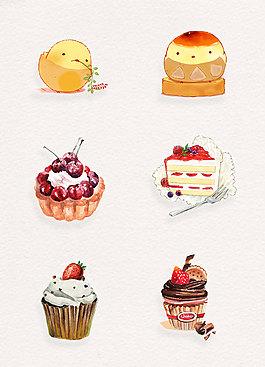 卡通蛋糕糕点设计元素