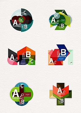 創意信息數據PPT圖表設計元素