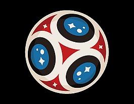 卡通色彩足球元素