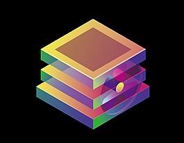卡通立體幾何元素