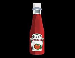 矢量番茄酱元素