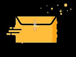 MBE邮件黄色图标素材