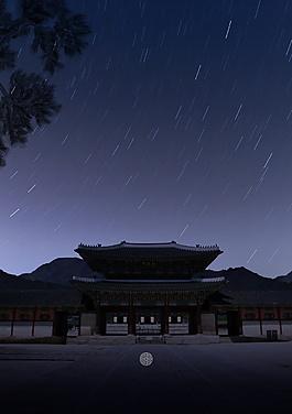 中秋節流星雨海報背景設計