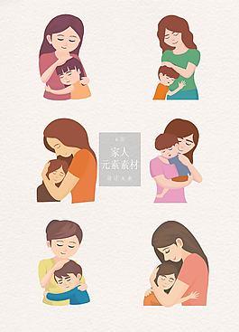 清新的母亲与孩子素材