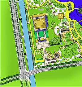 平面园林景观植物配置设计图