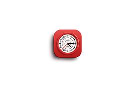 红色时尚时钟图标素材