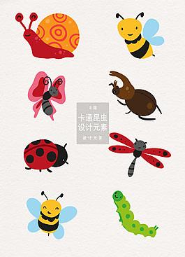 卡通昆虫设计元素