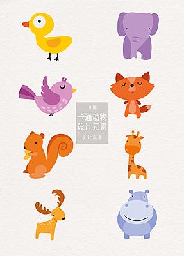 可爱卡通动物设计元素