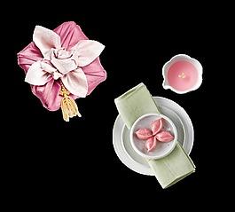 紫色禮盒裝飾素材