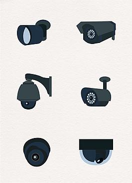 黑色數碼攝像頭圖案設計