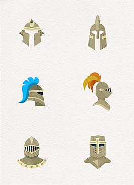 6款創意騎士頭盔設計矢量素材