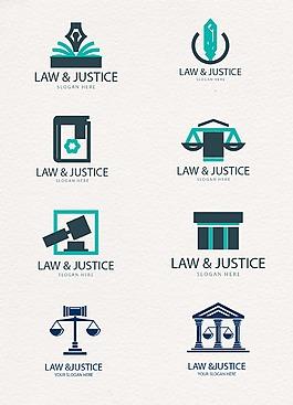 蓝色司法法律主题