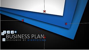 創意立體質感金屬商務PPT模板2