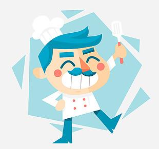 矢量卡通廚師