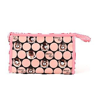 粉色小熊提手化妆包