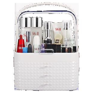 白色透明双开化妆柜