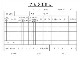 旅費報銷表