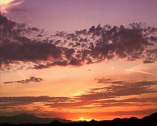 日落晚霞夕陽