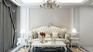 巴德士艺术漆北欧丝绒迷幻金色彩客厅装修效果图