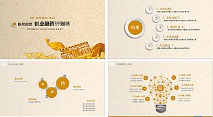 金色商業計劃書PPT模板