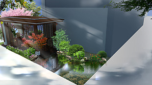 别墅后花园