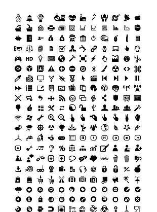 矢量手机图标UI全套图标