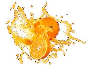 创意橙子橙汁效果