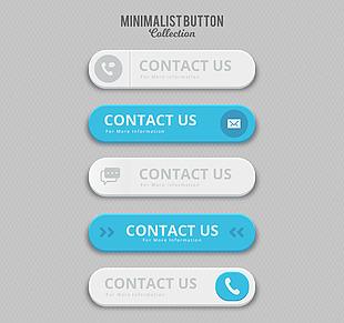 5款精致联系方式按钮矢量素材