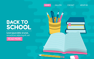 创意返校网站登录页面矢量素材
