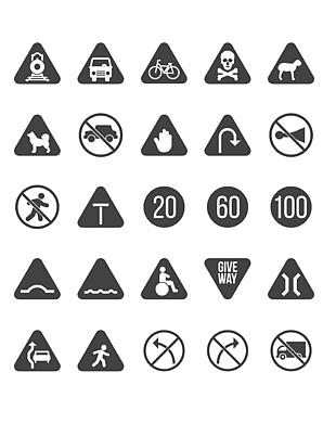 交通標志圖標