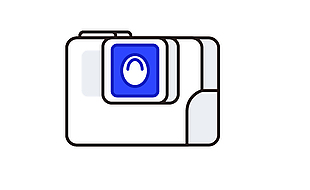 MBE相机线描卡通ICON图片