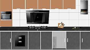 廚房電器擺放