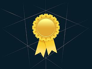 金色獎牌矢量圖 02